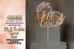 Lily Of The Valley Heart Wedding Cake Topper SVG Glowforge Product Image 2