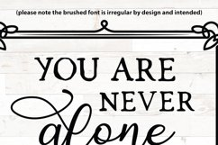 Christian svg, You are never alone, Joshua 1 9, bible verse Product Image 2