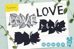 Love svg, word LOVE svg design Product Image 2