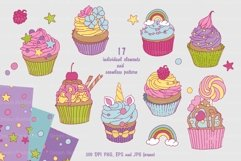 Collection of sweet cupcakes and a set of elements Product Image 2