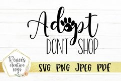 Adopt Don't Shop | Pets | SVG Cutting File Product Image 2