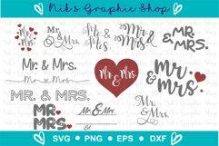 Mr and Mrs Svg, Mr Svg, Mrs Svg, Wedding Svg, Love Svg Product Image 2