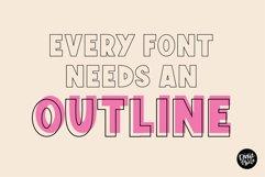 MINI FONT BUNDLE - Funky Outline Fonts Product Image 5
