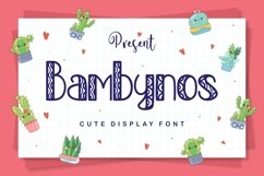 Bambynos - Cute Display Font Product Image 1