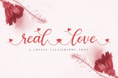 real love // a lovely calligraphy font Product Image 1
