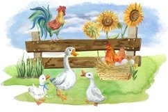 Farm animals watercolor Clipart. Product Image 5