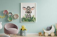 Set of 6 Safari Animal. Nursery Wall Decor. Tropical Prints. Product Image 3
