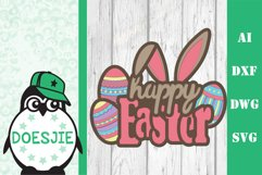 Layered Easter bundle 3d svg dxf Multi layer mandala easter Product Image 2