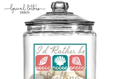I'd Rather Be Shelling SVG DXF Cut File LL034C Product Image 2