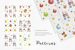 Watercolor christmas illustrations. Dogs Christmas. Product Image 3