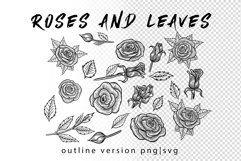 Wolf in roses set 100 hand-drawn Product Image 5