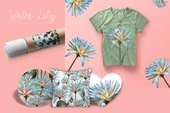 Flower lotus art watercolor for printable prints, pattern Product Image 3