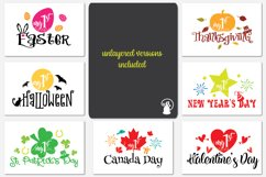 Baby milestone svg bundle, Baby's first Canada holidays, my Product Image 2