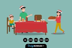 Christmas Family Illustrations Product Image 1