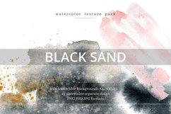 Black Sand. Watercolor texture pack. Product Image 1