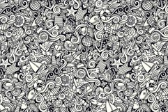 Marine Doodles Seamless Patterns Product Image 5