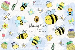 Honey Bee Cliparts PNG Product Image 1