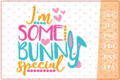 I'm SomeBunny Special SVG, Cutting File, Easter SVG Cut File Product Image 1