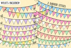 Bunting Banners Clip Art Collection Product Image 2