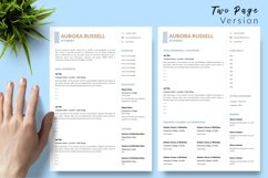 Legal Resume CV Template for Word & Pages Aurora Russell Product Image 3