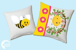 Bumble bee cliparts, Honey bee cliparts, graphics, illustrations AMB-1053 Product Image 3