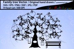 19 spots family tree / 19 heart family tree template Product Image 1