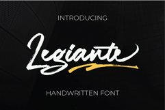 Legiante | Handwritten Fonts Product Image 1