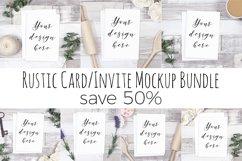 Rustic Card Mockup Bundle Product Image 1