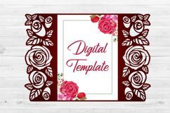 Roses wedding invitation template, Svg files for cricut Product Image 3