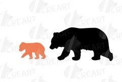 Baby and mama bear nursery clip art collection, bears print Product Image 15
