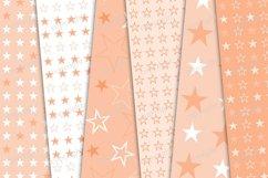 Pastel orange stars seamless pattern Product Image 3