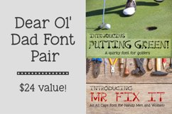 Dear Ol Dad Putting Green and Mr Fix It Font Pair Product Image 1