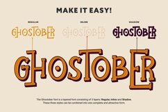 Ghostober | Halloween Layered Font Product Image 4