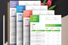Modern Invoice Template Google Sheets Excel Numbers Format Product Image 4