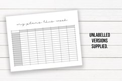 Printable Weekly Planning Sheet   Planner Page Sheet Product Image 2