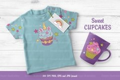 Collection of sweet cupcakes and a set of elements Product Image 3
