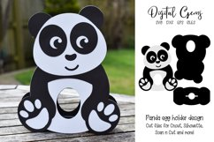 Panda Easter egg holder design SVG / DXF / EPS Product Image 1