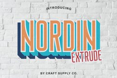 Nordin Extrude Font Family Product Image 1