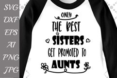 Only the best sisters get promoted to Aunts Svg Product Image 1