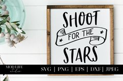 Shoot for the Stars SVG Cut File - SVG PNG JPEG EPS DXF Product Image 3
