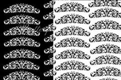 Damask Digital Paper, Black and White Damask Digital Product Image 5