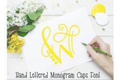 Monogram Hand Lettered Font Product Image 1