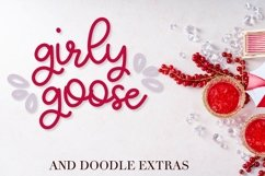 Girly Goose - A Fun Script Font with Doodle Extras Product Image 1