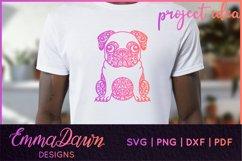 HENRI THE PUG DOG SVG MANDALA ZENTANGLE BUNDLE 4 DESIGNS Product Image 7