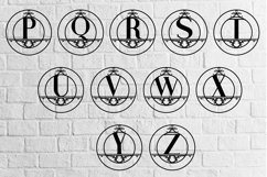 Rounded Monogram Alphabet A-Z Product Image 3