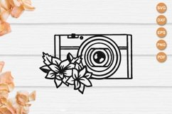 Mirrorless Camera svg, Wedding Photography, Camera cut file Product Image 1