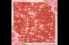 42 Living Coral Glowing Glitter Sequin Digital Papers Product Image 4