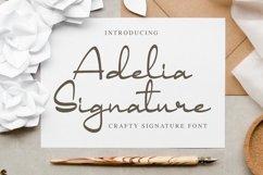 Adelia Signature - Crafty Signature Font Product Image 1
