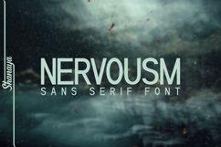 NERVOUSM Font UPDATE  Elegant San Serif Style Product Image 1