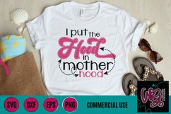 I Put the Hood In Motherhood SVG DXF PNG EPS Comm Product Image 1